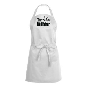 Mens/Womens The Grillfather – White Apron