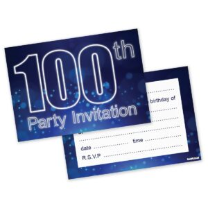 18th 16th 30th 40th 50th 60th 65th 70th 80th Birthday Party Invitations Invites – Pack of 20
