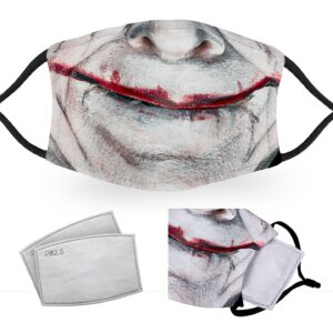 Creepy Clown Smile – Halloween Costume – Child Face Masks – 2 Filters Included
