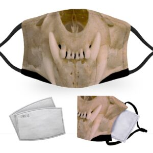 Fang Skull – Halloween Costume – Child Face Masks – 2 Filters Included