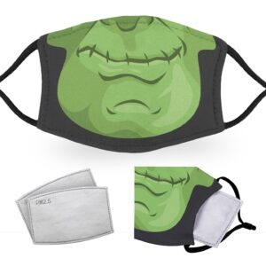 Frankenstein Face – Halloween Costume – Child Face Masks – 2 Filters Included