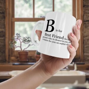 B Is For Best Friend Colourful – Printed Quote Mug