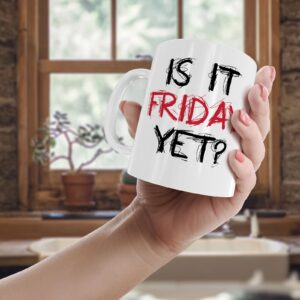 Is It Friday Yet? Colourful – Printed Quote Mug