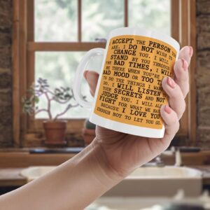 I Accpet The Person You Are – Printed Quote Mug