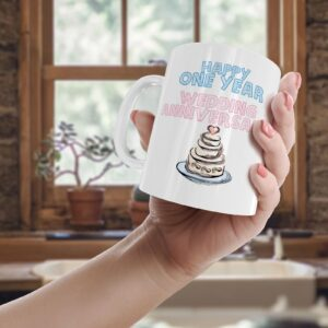 Happy One Year Wedding Anniversary – Printed Mug