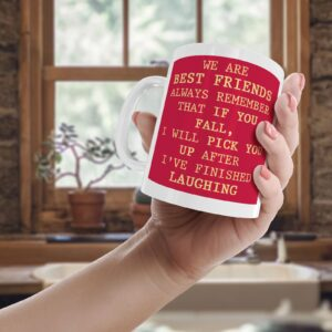 We Are Best Friends Colourful – Printed Quote Mug