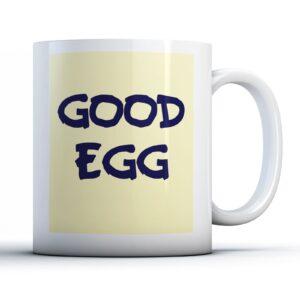 Good Egg Colourful – Printed Quote Mug