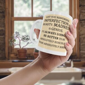 Just Remember, Imperfection Is Beauty – Printed Quote Mug