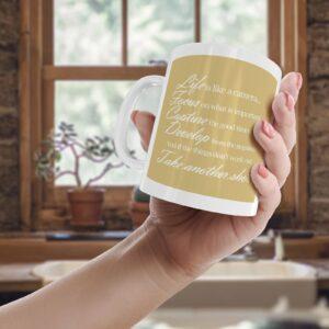 Life Is Like A Camera Colourful – Printed Quote Mug