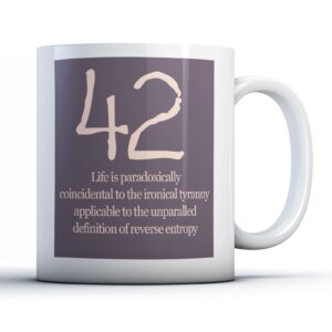 Meaning Of Life 42 Colourful – Printed Quote Mug