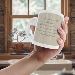 The Script Wil.I.Am Hall Of Fame Lyrics – Printed Quote Mug