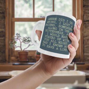 The Fray How To Save A Life Lyrics – Printed Quote Mug
