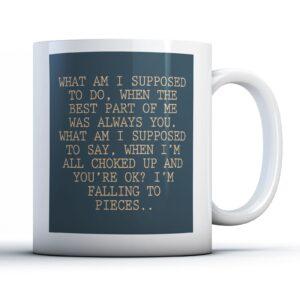 The Script Breakeven Lyrics – Printed Quote Mug