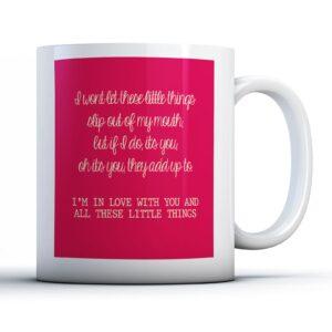 One Direction Little Things Lyrics – Printed Quote Mug