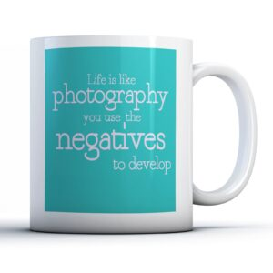 Life Is Like Photography Colourful – Printed Quote Mug