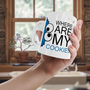 Decorative Writing Where Are My Cookies – Printed Mug