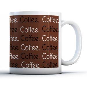 Coffee Wrap Brown Design – Printed Mug