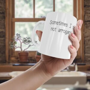 Decorative Not Arrogant Enough Boss – Printed Mug