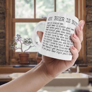 Decorative Writing Beer Better Than A Woman – Printed Mug