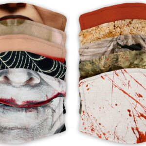 Selection of Horror Halloween – Face Masks – 2 Filters Included