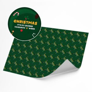 Funny Second Favourite C Word –  Novelty Wrapping Paper Sheet