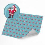 Funny Santa Face Mask –  Novelty Wrapping Paper Sheet