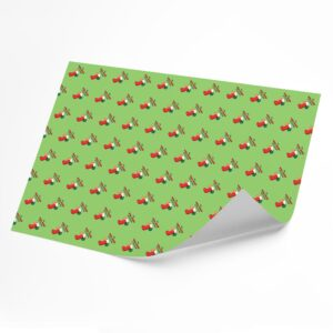 Funny Well Hung Stocking –  Novelty Wrapping Paper Sheet