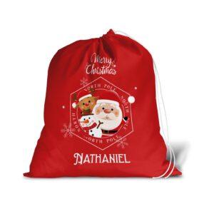 Merry Christmas Santa Sack For Christmas Presents – Large Gift Bag Stocking