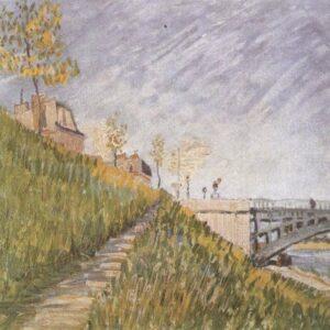 Banks River Seine Clichy's Bridge Van Gogh VG391 Art Print A4 A3 A2 A1