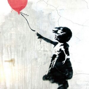 Banksy Graffiti Street Art A2 Canvas Giclee Framed Print Balloon Girl 4