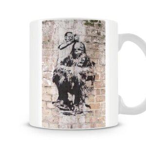 Banksy – Chewbacca Barbers 2 – Printed Mug