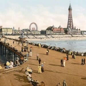 Blackpool Seaside Scenes Print Poster A4 A3 A2 A1