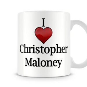 Christmas Stocking Filler I Love Christopher Maloney Ideal Gift! – Printed Mug