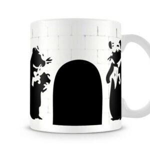 Banksy Butler Rats – Printed Mug