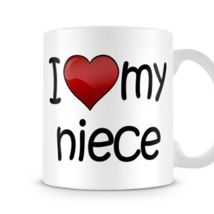 I Love My Niece Ideal Gift – Printed Mug