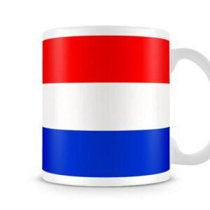The Netherlands Flag Both Sides Or Wrapped Around – Printed Mug