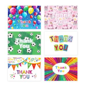 Thank You Cards Thankyou Postcards Childrens Kids Boys Girls – Pack of 20