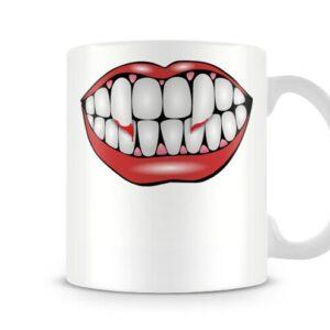 Vampire Teeth – Printed Mug
