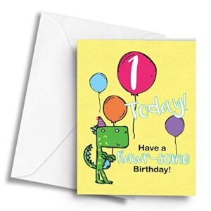 1 Today! (Dinosaur) – A5 Greetings Card
