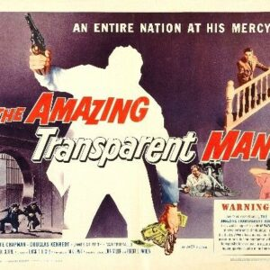 AMAZING TRANSPARENT MAN 02 B-MOVIE REPRODUCTION ART PRINT A4 A3 A2 A1