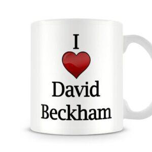 Christmas Stocking Filler I Love David Beckham Ideal Gift! – Printed Mug