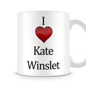 Christmas Stocking Filler I Love Kate Winslet Ideal Gift! – Printed Mug
