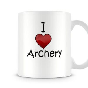 I Love Archery Ideal Gift – Printed Mug