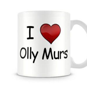 I Love Olly Murs Ideal Gift! – Printed Mug