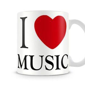 Decorative I Love Music Ideal Gift – Printed Mug