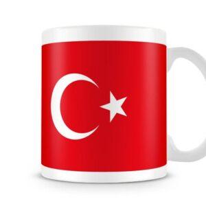 The Flag Of Turkey Both Sides Or Wrapped Around – Printed Mug