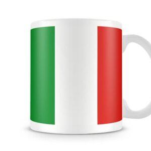 The Italian Flag Both Sides Or Wrapped Around – Printed Mug