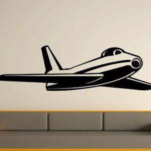 1970s style jet fighter Wall Art Sticker
