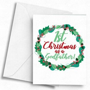 1st Christmas as a Godfather! – A5 Greetings Card