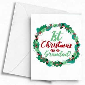 1st Christmas as a Grandad! – A5 Greetings Card